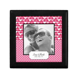 Cute Anniversary Photo Keepsake Box