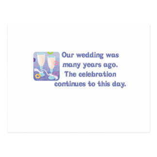 "Cute, ""Anniversary"" quote design Postcard"
