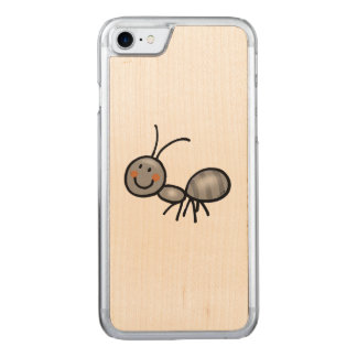 cute ant cartoon carved iPhone 8/7 case