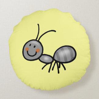 cute ant cartoon round pillow