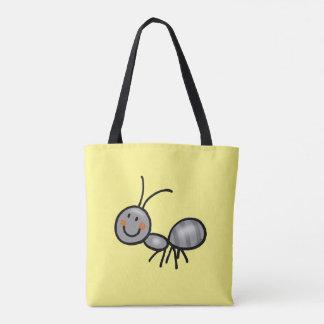 cute ant cartoon tote bag