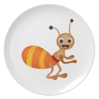 Cute ant dinner plate