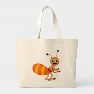 Cute ant large tote bag