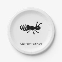 Cute Ant or Termite Funny Pest Control Paper Plate