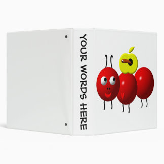 Cute ant with apple binder