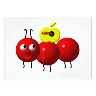 Cute ant with apple card