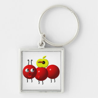 Cute ant with apple keychain