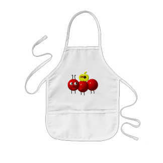 Cute ant with apple kids' apron