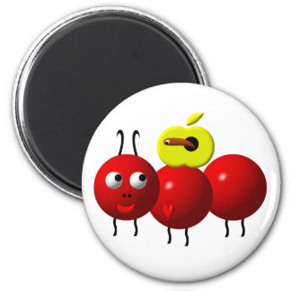 Cute ant with apple magnet