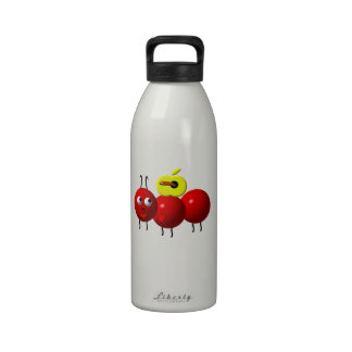 Cute Ant with Apple Reusable Water Bottles