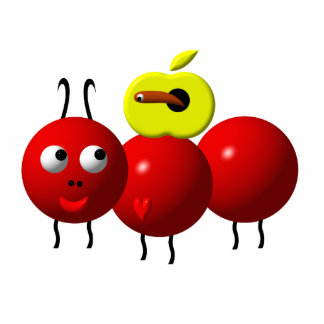 Cute ant with apple statuette