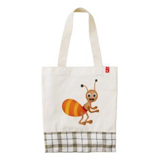 Cute ant zazzle HEART tote bag