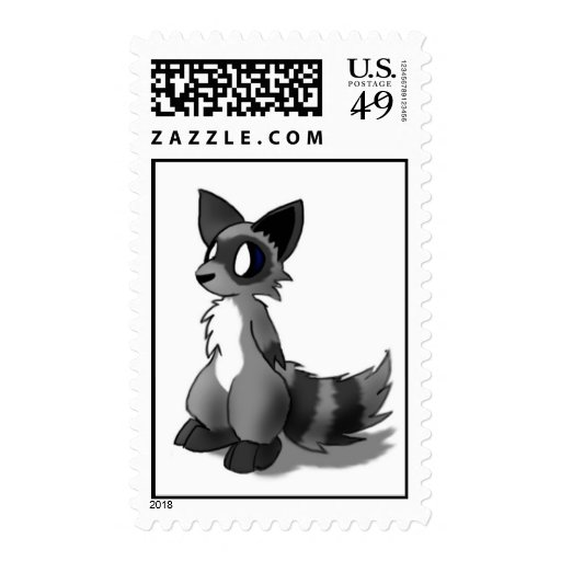 Cute Anthro Raccoon Postage Stamps