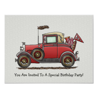 Cute Antique Car Card