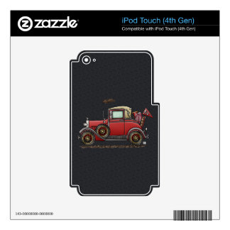 Cute Antique Car Decals For iPod Touch 4G
