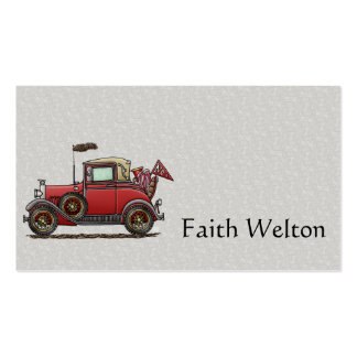 Cute Antique Car Double-Sided Standard Business Cards (Pack Of 100)