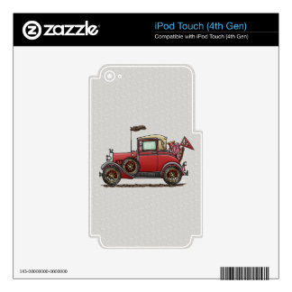 Cute Antique Car iPod Touch 4G Skins