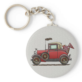 Cute Antique Car Keychain