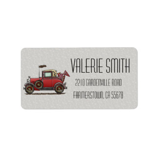 Cute Antique Car Label