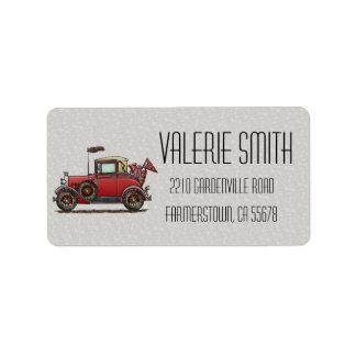 Cute Antique Car Label