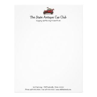 Cute Antique Car Letterhead