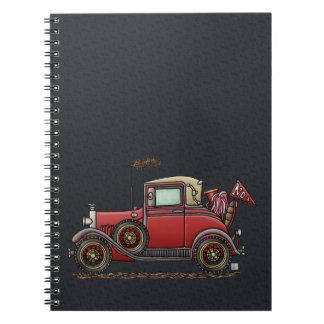 Cute Antique Car Notebook