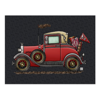 Cute Antique Car Postcard