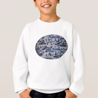 Cute Antique Vintage Retro Christmas Xmas Village Sweatshirt