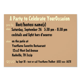 """Cute Any Occasion Party 4.5"""" X 6.25"""" Invitation Card"""