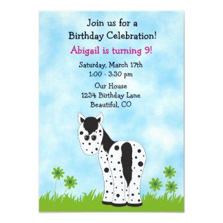 Cute Appaloosa Horse Birthday Invitation ~ Girls