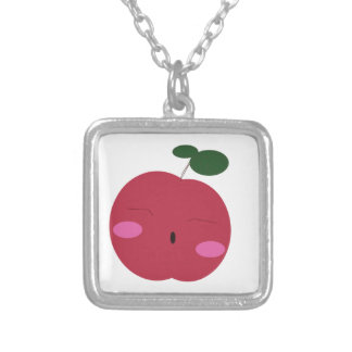 🍎Cute Apple ~ かわいいりんご. Silver Plated Necklace