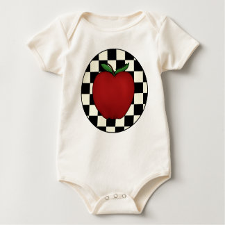 Cute Apple Baby Organic Baby Bodysuit