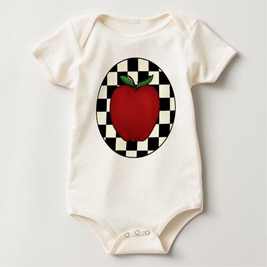 Cute Apple Baby Organic Baby Bodysuit