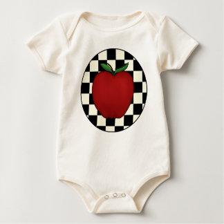 Cute Apple Baby Organic Creeper