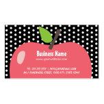 Cute Apple Child Care Black Dots Business Card
