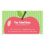 Cute Apple Childcare/School Business Card