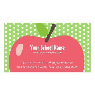 Cute Apple Childcare School Business Card