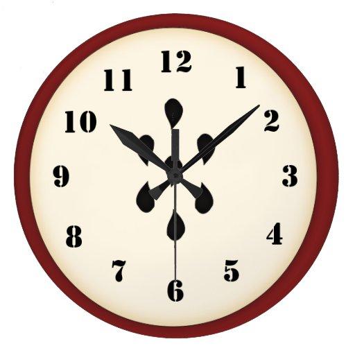 Cute Apple Clock Zazzle
