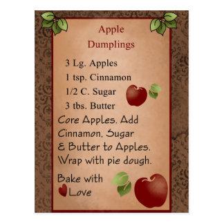 Cute Apple Dumplings Postcard
