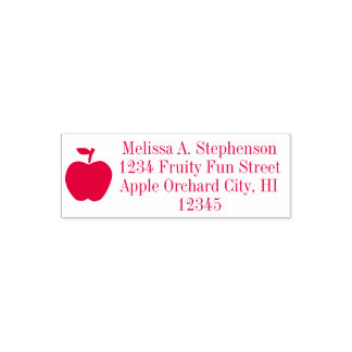 Cute Apple Fruit Return Address Stamp