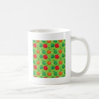 Cute apple green and red pattern mug