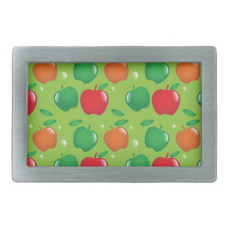 Cute apple green and red pattern rectangular belt buckle