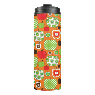 Cute apple illustration pattern thermal tumbler