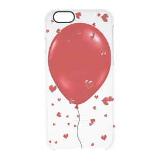 Cute Apple iPhone 6/6s Case-Red balloon and hearts Clear iPhone 6/6S Case