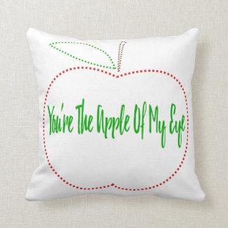 Cute apple of my eye  pillow