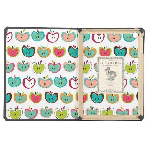 Cute apple pattern iPad air covers
