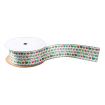Cute apple pattern satin ribbon