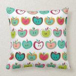 Cute apple pattern throw pillow