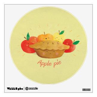 Cute Apple Pie Wall Decal