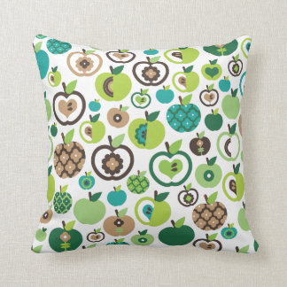 Cute apple retro pattern flower design pillow